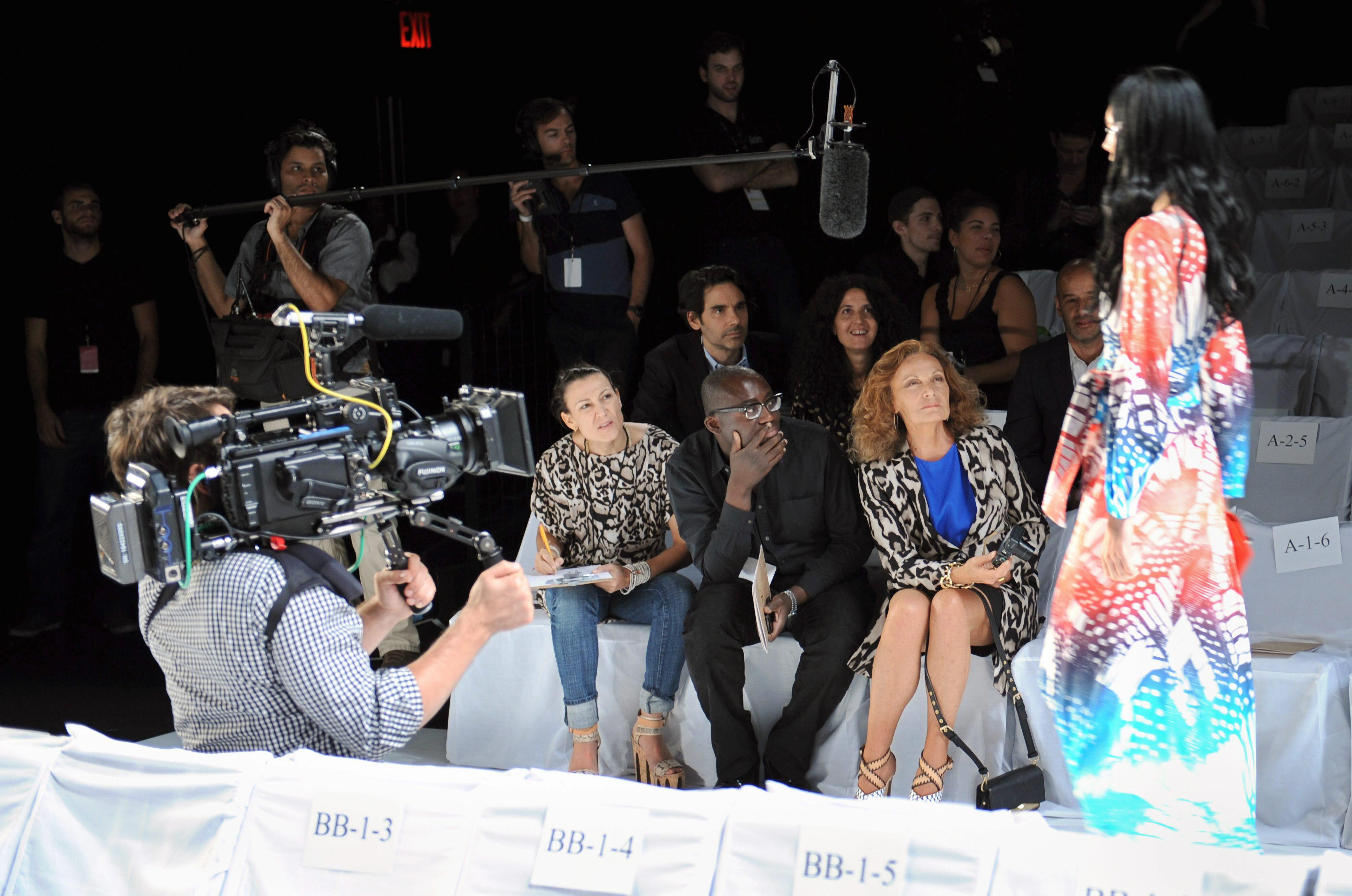 Diane Von Furstenberg en la pasarela de Nueva York - primavera/verano 2014