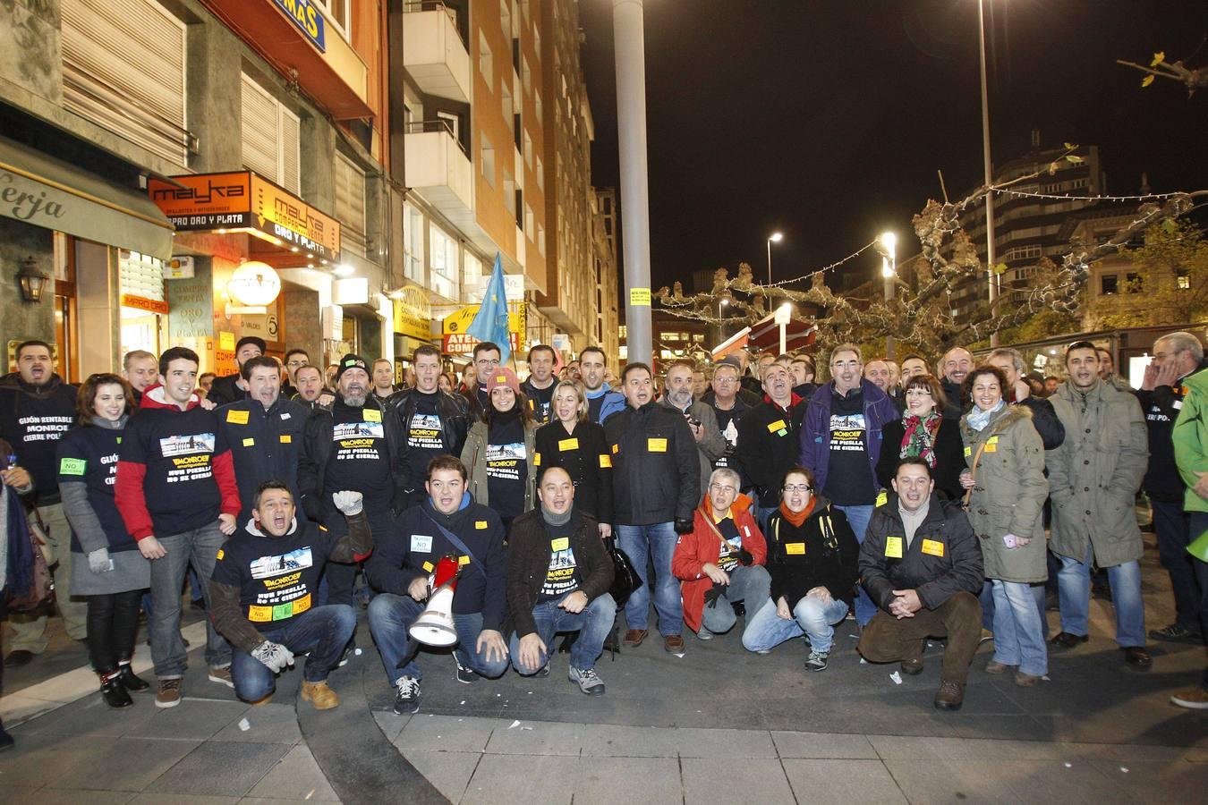 Unas quinientas personas se manifiestan contra el empleo precario en Gijón
