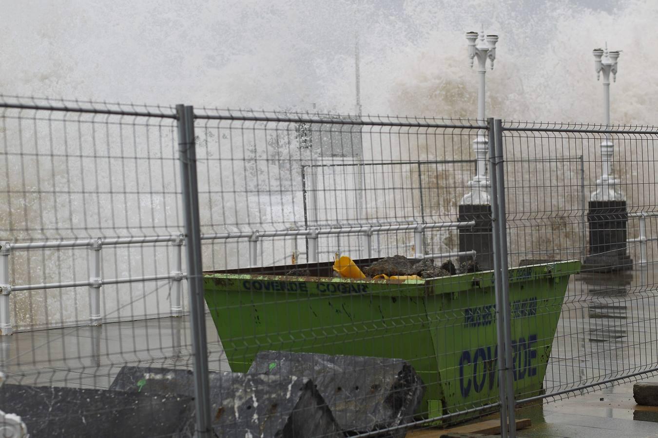 El temporal no da tregua a la costa asturiana