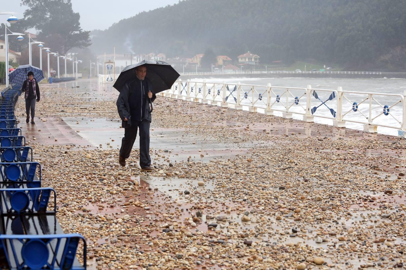 El temporal azota el oriente asturiano