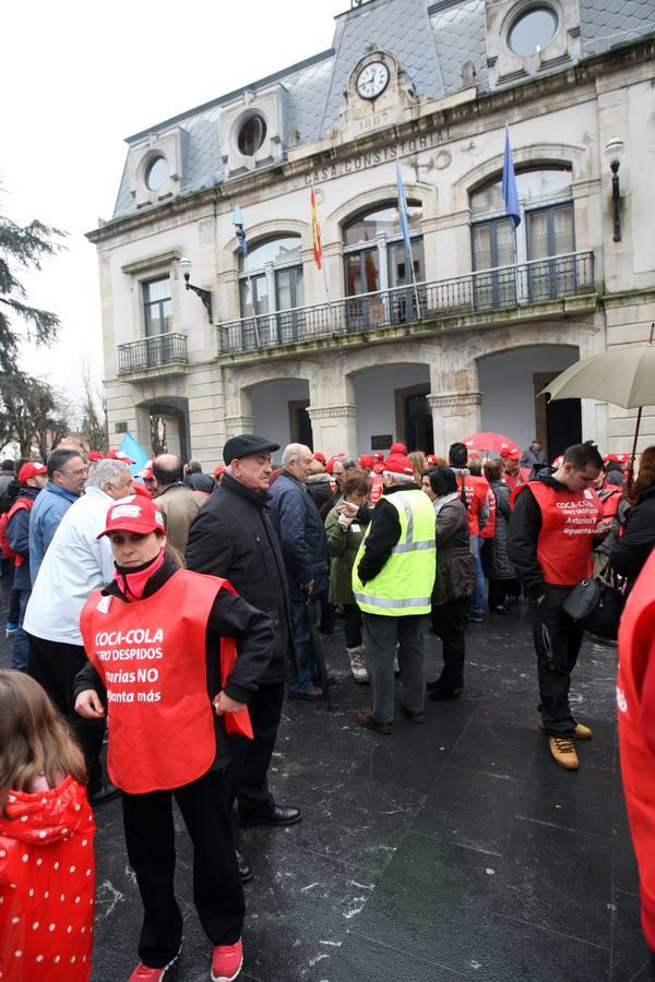 Marcha de los trabajadores de Coca-Cola