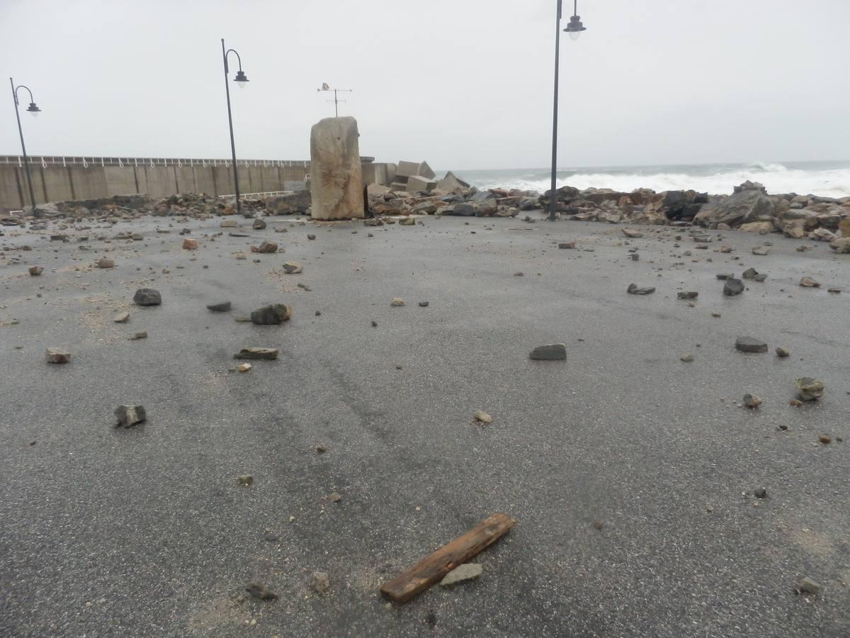 Los daños del temporal en el Occidente de Asturias