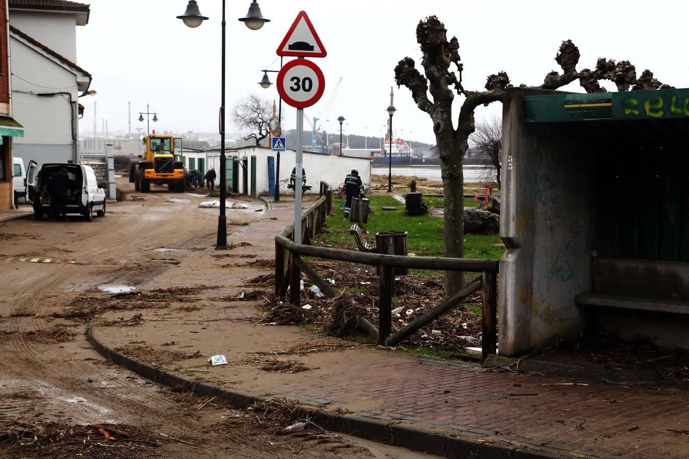Daños en la comarca de Avilés