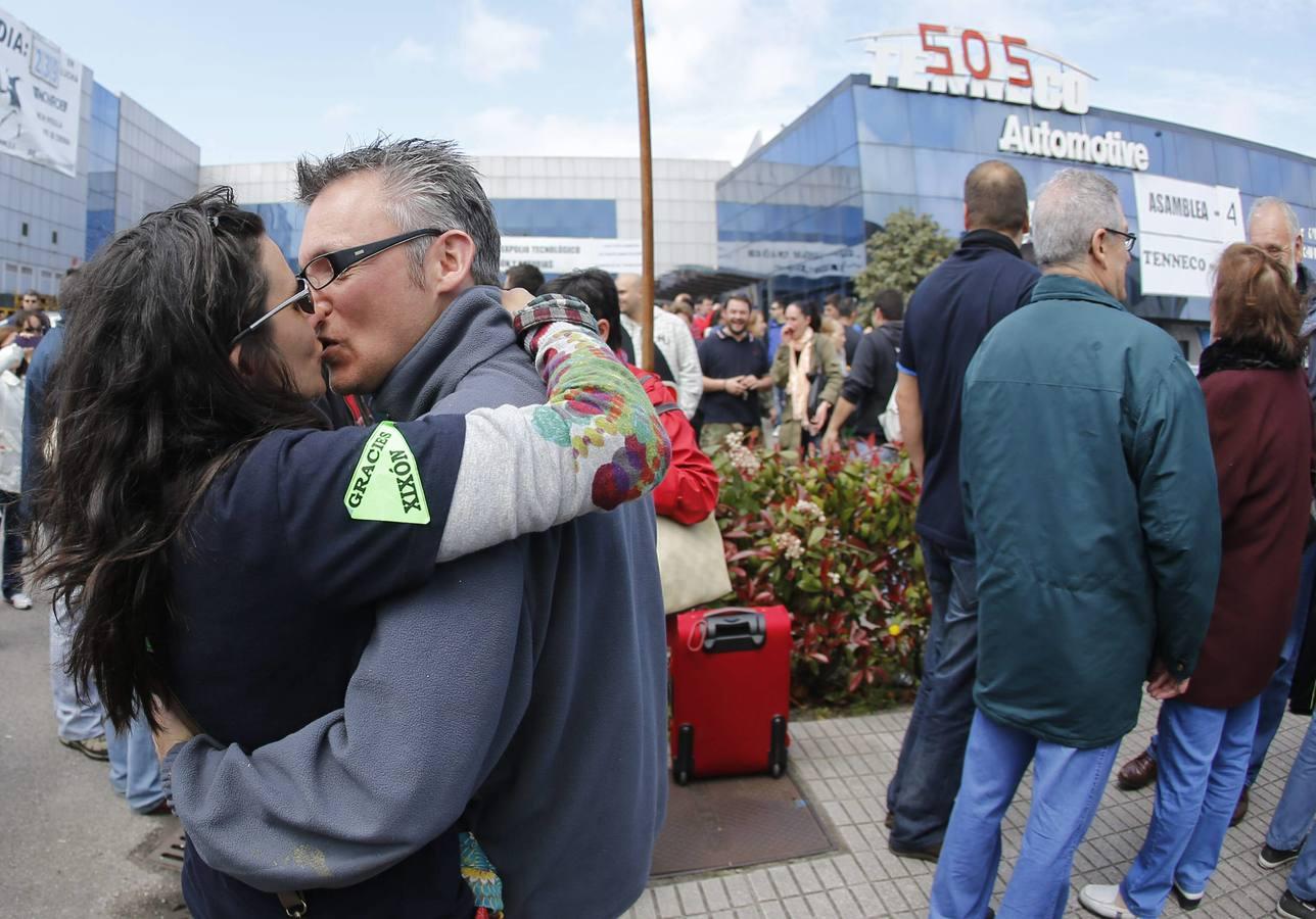 Los trabajadores de Tenneco regresan a Bruselas