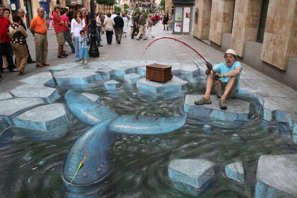 Los espectaculares dibujos de Julian Beever sobre el pavimento