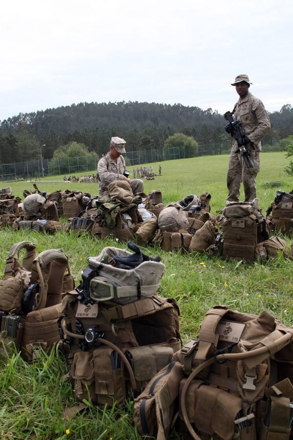 Los Marines americanos, en Asturias