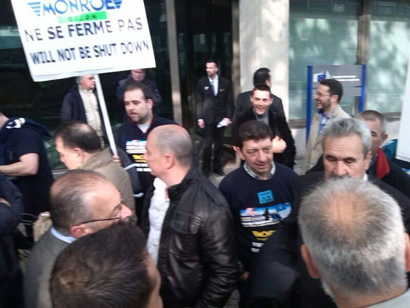 Los trabajadores de Tenneco, en Bruselas