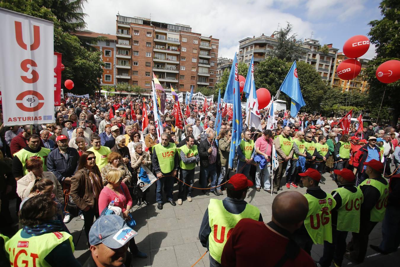 Las imágenes de la manifestación en Mieres