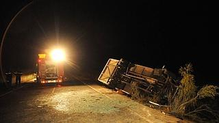 Cinco fallecidos en un accidente cerca de Castuera.